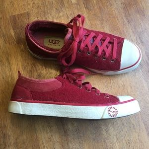 """UGG Red """"Evra"""" Sneakers"""